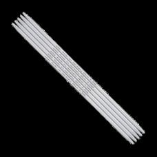 Спицы, чулочные, алюминий, №4,0, 20 см. 5 шт в блистере