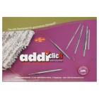 Набор круговых никелированных длинных спиц со сменными лесками addiclick lace long tips