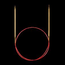 Спицы, круговые, с удлиненным кончиком, позолоченные, №1,75, 80 см. для тонкой пряжи