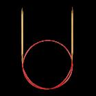 Спицы, круговые, с удлиненным кончиком, №4, 1...