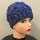 Шапка синие косы