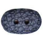 Пуговица пластик, 36 мм, голубая